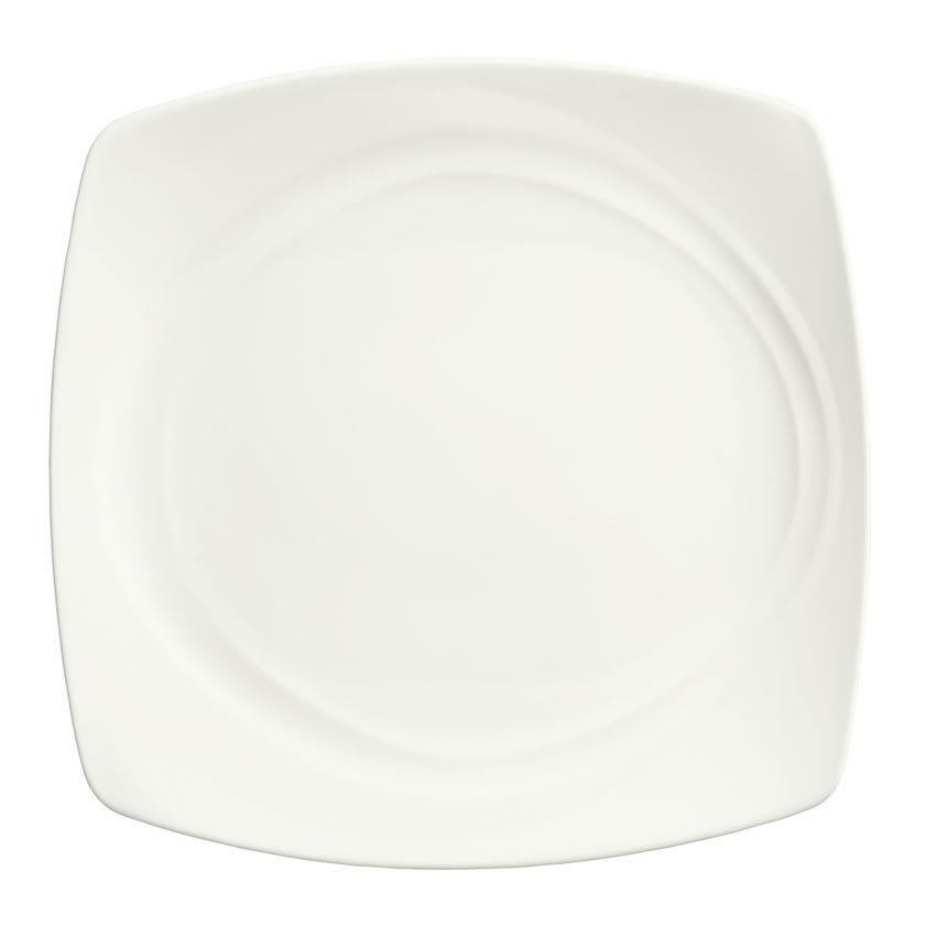 "Syracuse China 995679506 11.75"" Square Plate w/ Resonate Pattern & Royal Rideau, Alumina Body"
