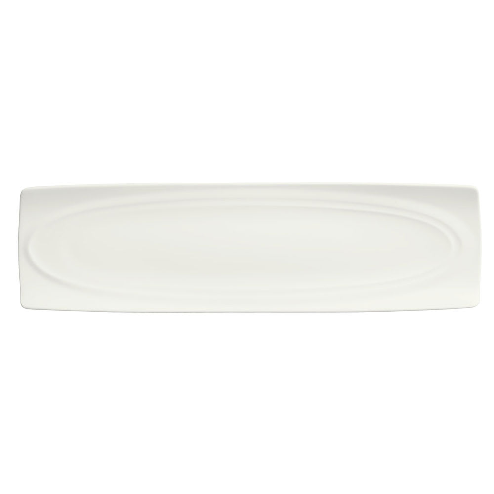 Syracuse China 995679510 Long Platter w/ Resonate Pattern & Royal Rideau, Alumina Body, 15x4.12""