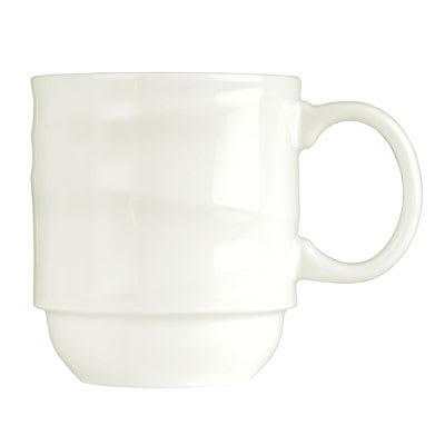 Syracuse China 995679521 12-oz Stacking Mug w/ Resonate Pattern & Royal Rideau, Alumina Body