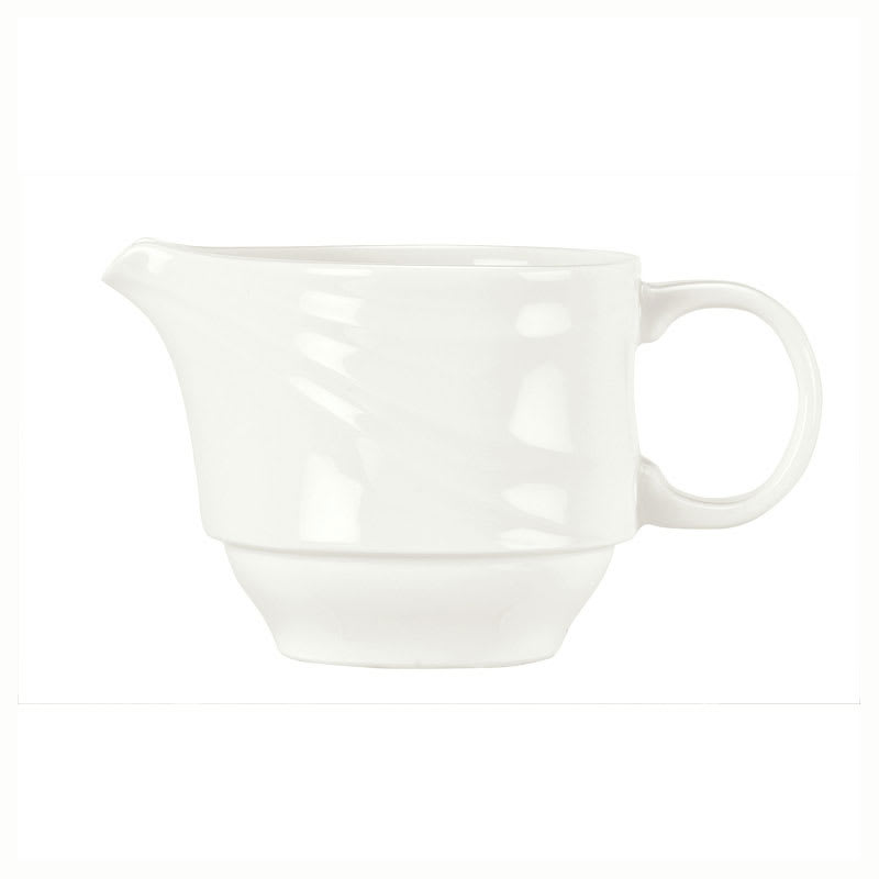Syracuse China 995679522 6-oz Royal Rideau Creamer - Handle, Resonate Pattern, White