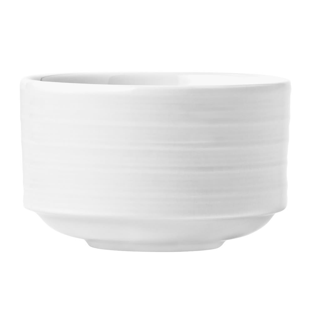 Syracuse China 999001705 9 oz Galileo Constellation Bouillon Bowl - Porcelain, Lunar White