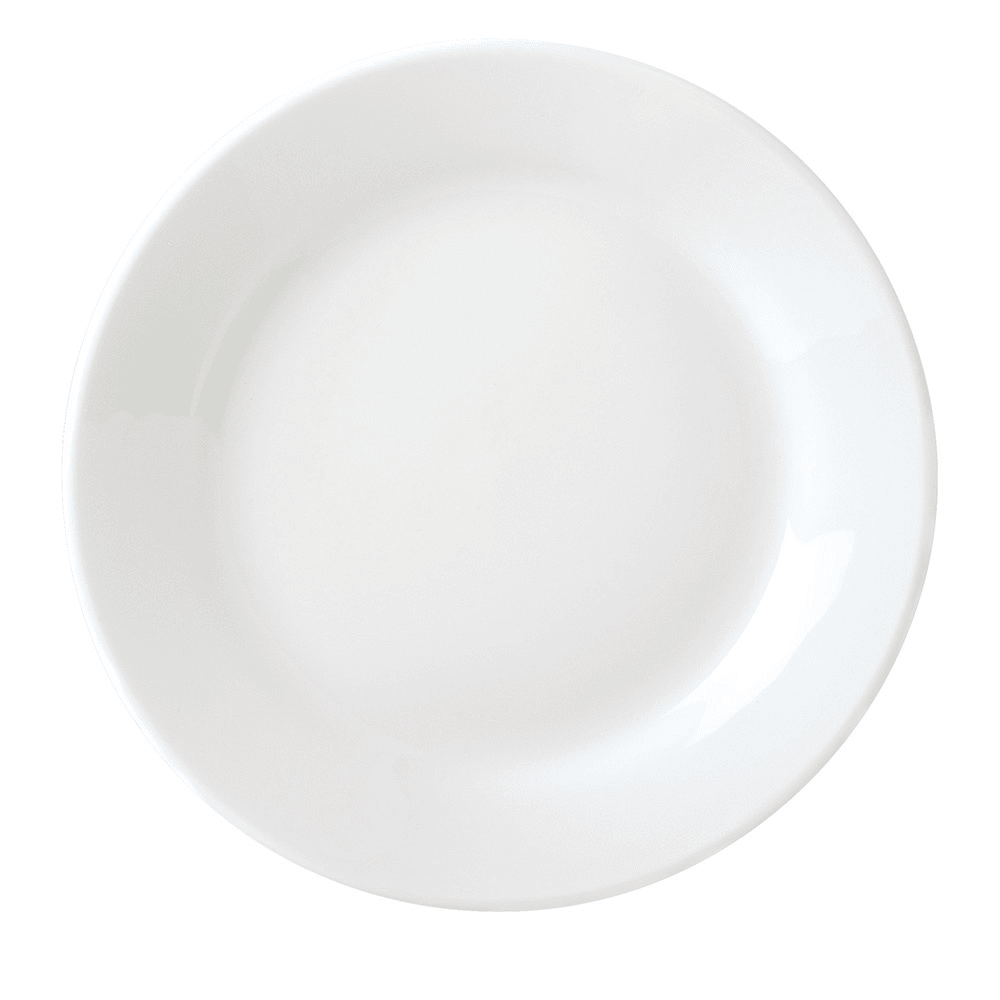 "Syracuse China 999024139 9"" Round Porcelain Plate, Lunar White"