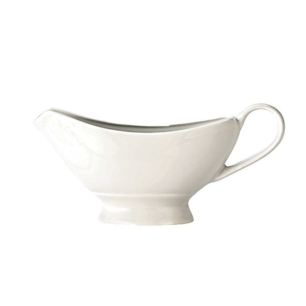 Syracuse China 999333904 7-oz Constellation Sauce Boat - Porcelain, Lunar White
