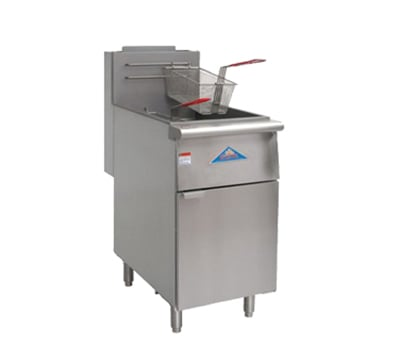 Comstock-Castle EFS18-G Gas Fryer - (1) 80 lb Vat, Floor Model, NG