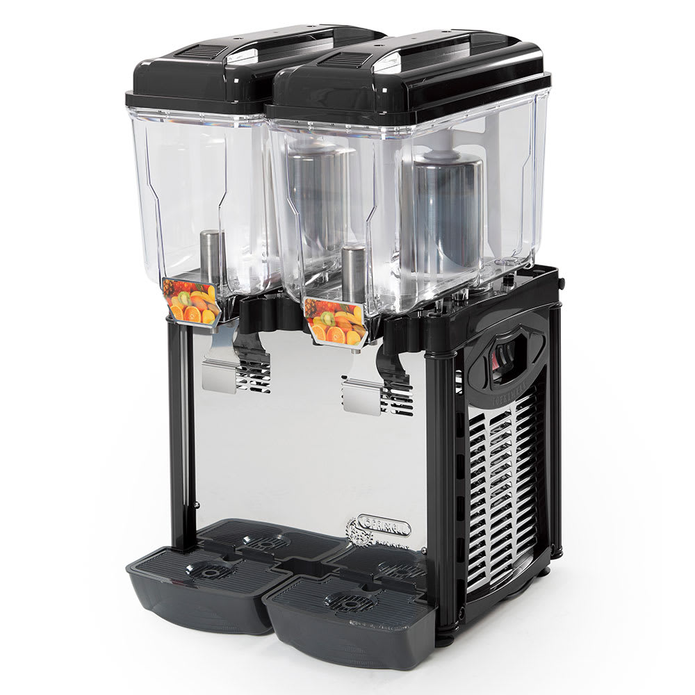 Eurodib CD2J Cofrimell Juice Dispenser w/ (2) 3.2-Gallon Polycarbonate Tank