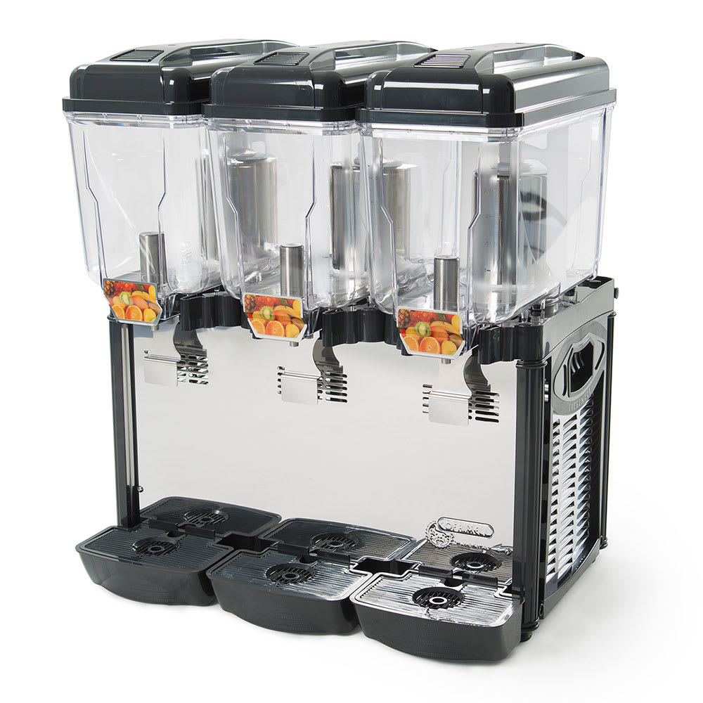 Eurodib CD3J Cofrimell Juice Dispenser w/ (3) 3.2-Gallon Polycarbonate Tank