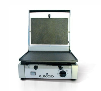 Eurodib CORT-R-110 Sirman Commercial Panini Press w/ Cast Iron Grooved Plates, 110v