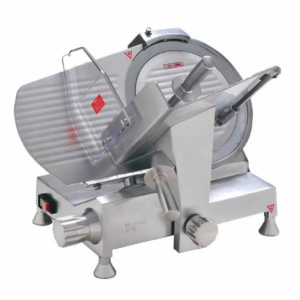"Eurodib HBS-300L Manual Meat Slicer w/ 12"" Blade, Belt Driven, Aluminum, 1/3 hp"
