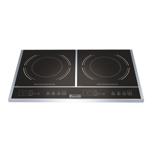 Eurodib S2F1 Countertop Commercial Induction Cooktop w/ (2) Burners, 120v
