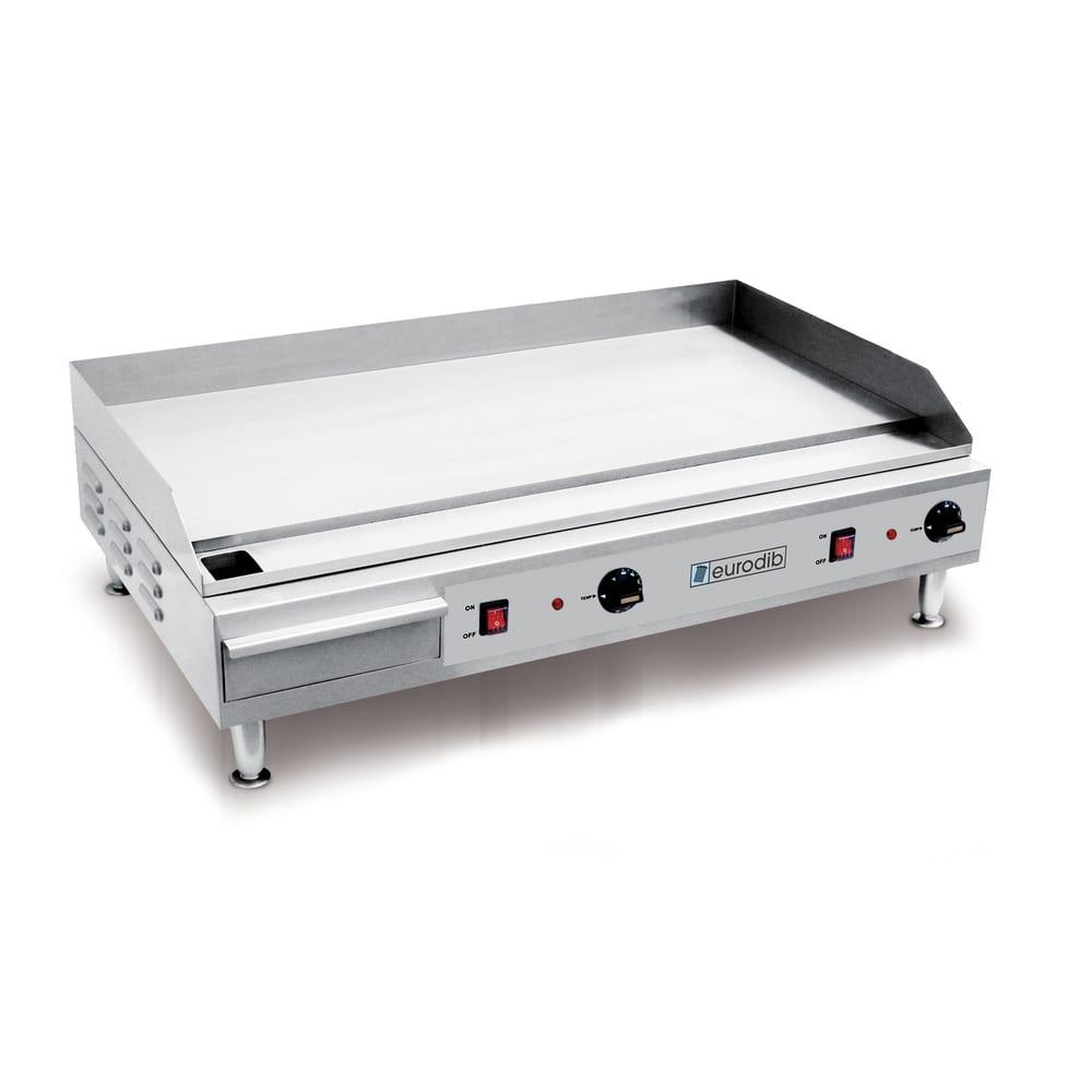 "Eurodib SFE04910 36.5"" Electric Griddle - Manual, 1/2"" Steel Plate, 220v/1ph"