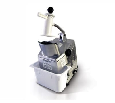 Eurodib TM 2201 Sirman Vegetable Cutter w/ 1 Disc, Holder, Poly Container, 220/1 V