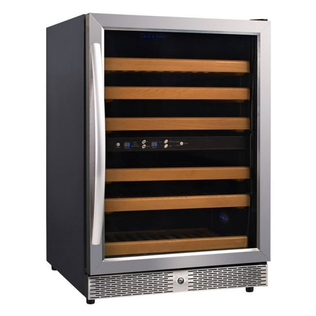 "Eurodib USF54D 23.4"" One-Section Wine Cooler w/ (2) Zones - 46-Bottle Capacity, 110v"