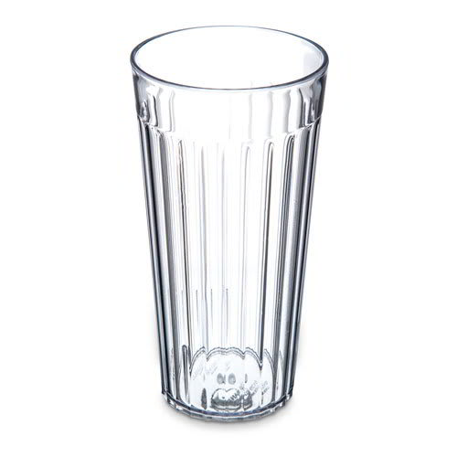 Carlisle 012007 20 oz Stackable Bistro Tumbler - Fluted, Clear