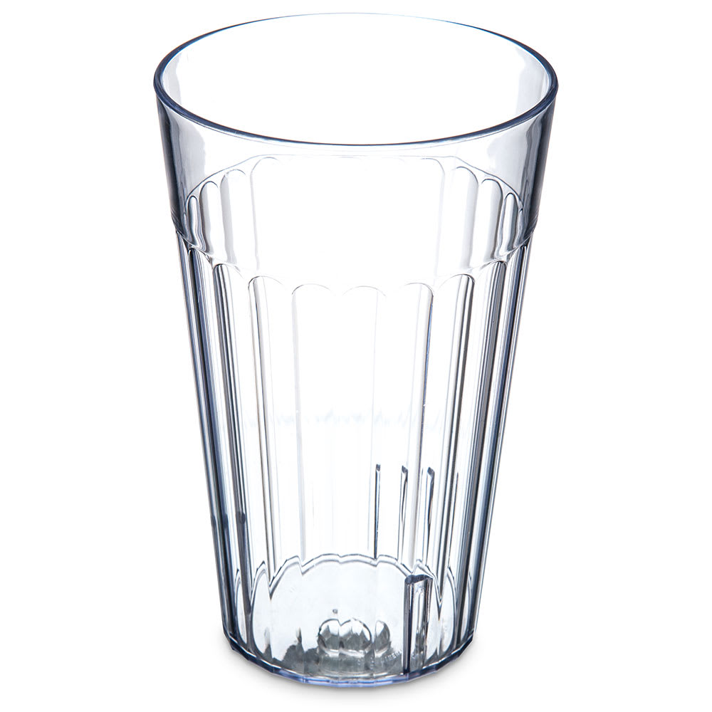 Carlisle 013207 32 oz Bistro Tumbler - Fluted, Clear