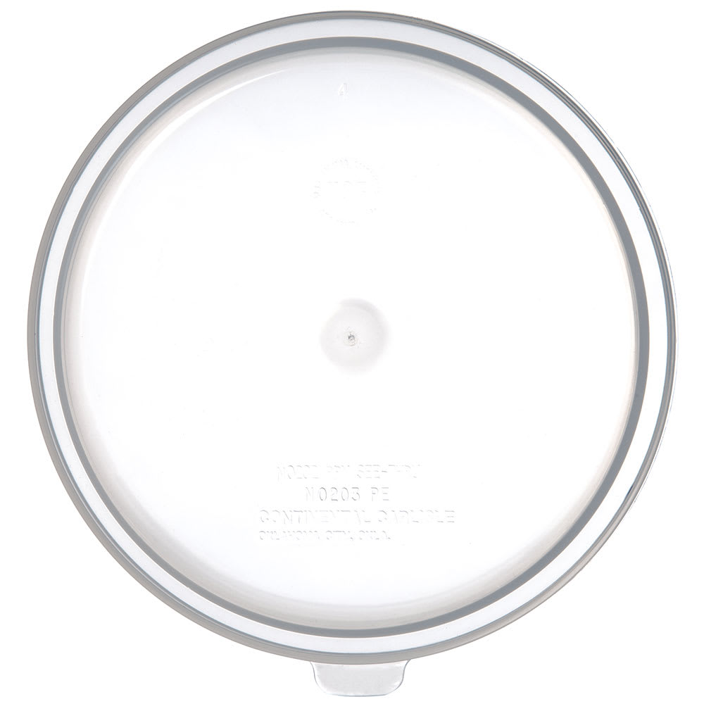 Carlisle 020230 Bain Marie Food Storage Lid, 2 qt & 3.5 qt, Polyethylene, Translucent