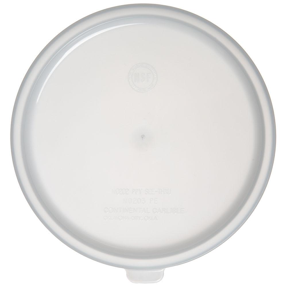 Carlisle 020302 Bain Marie Food Storage Lid, 2 qt & 3.5 qt, Polyethylene, White