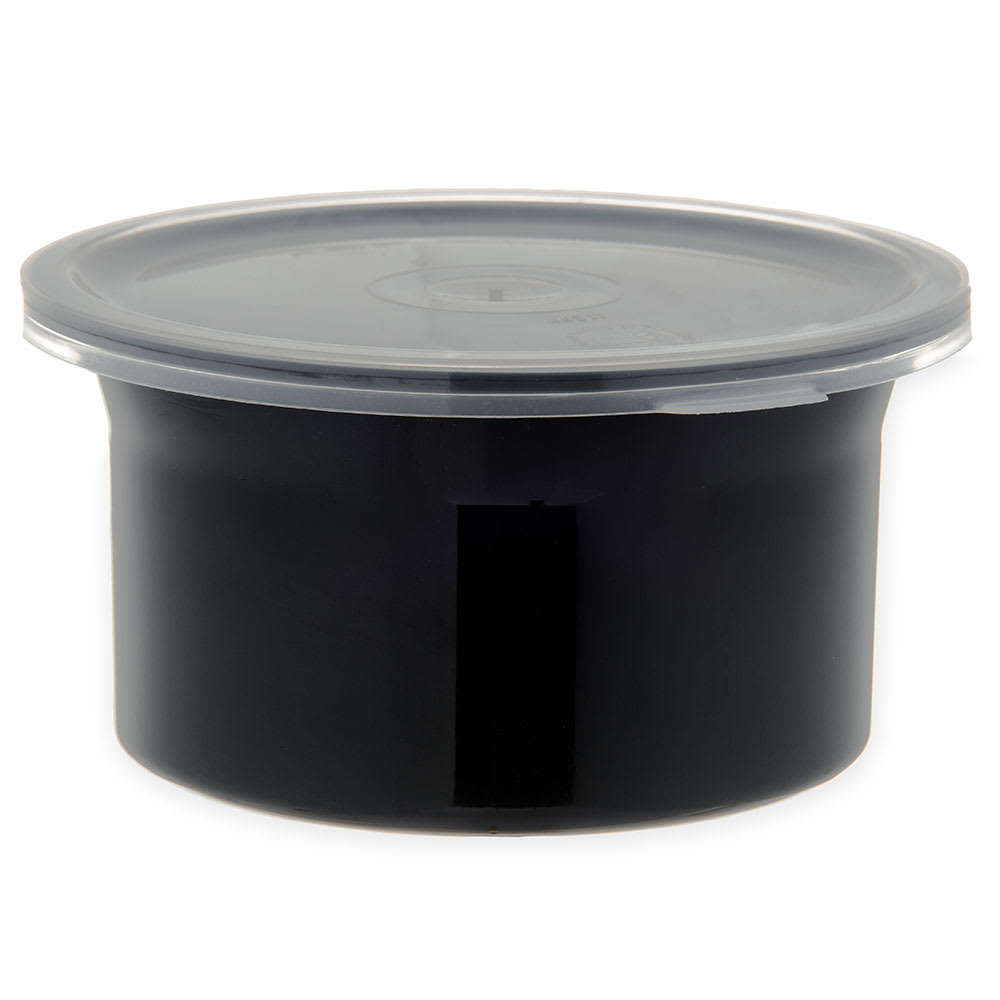 Carlisle 030003 .6-qt Classic Crock - Snap-On Lid,  Black