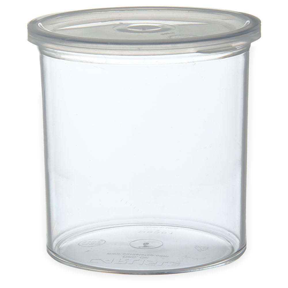 Carlisle 030107 1.2 qt Classic Crock - Snap-On Lid,  Clear