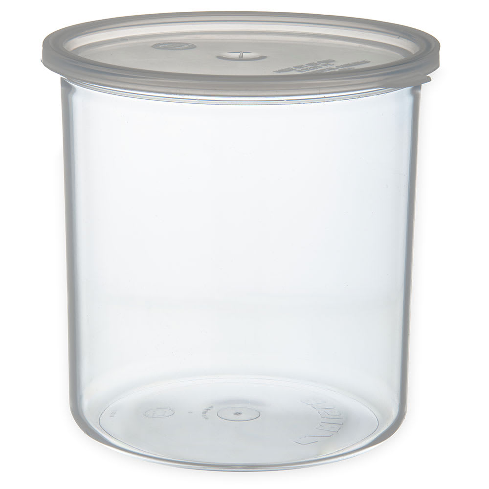 Carlisle 030207 2.7-qt Classic Crock - Snap-On Lid,  Clear