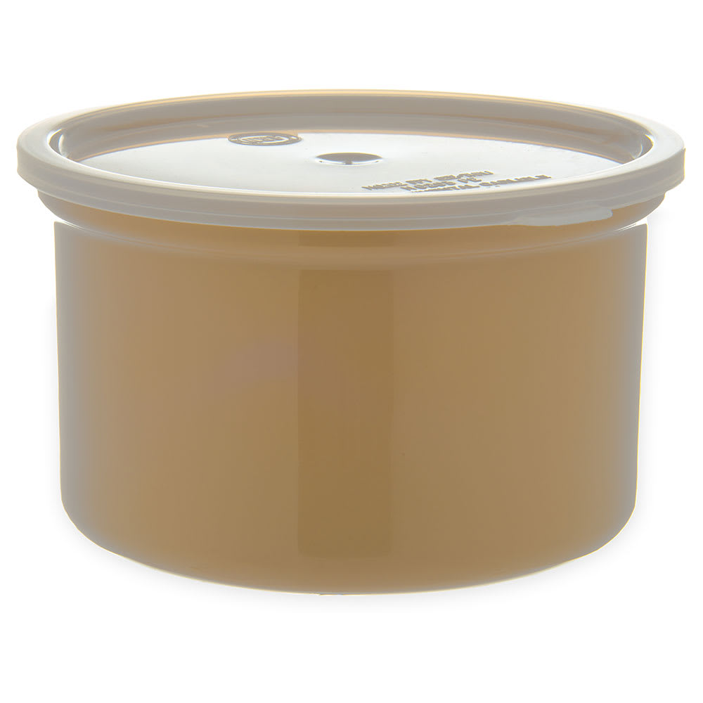 Carlisle 031606 1.5 qt Classic Crock - Snap-On Lid,  Beige