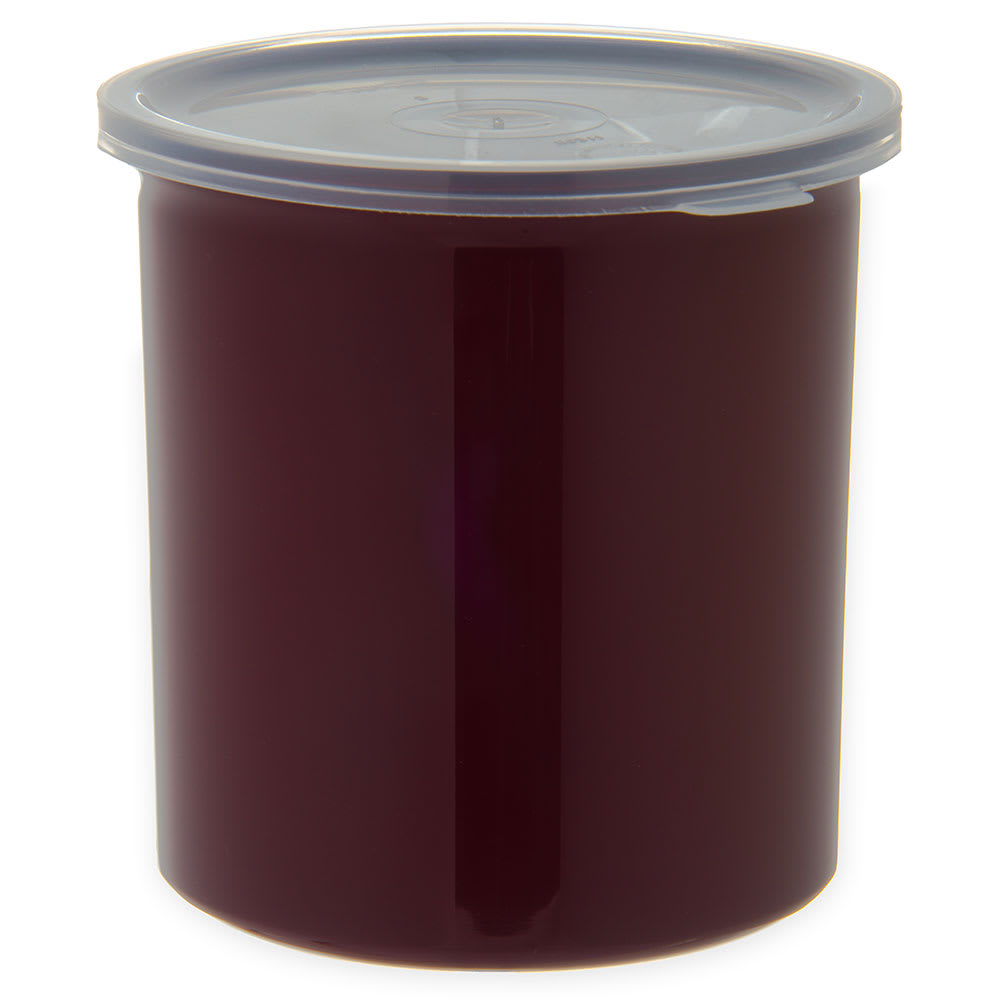 Carlisle 034101 1.2 qt Poly-Tuf Crock - Snap-On Lid, Translucent/Brown