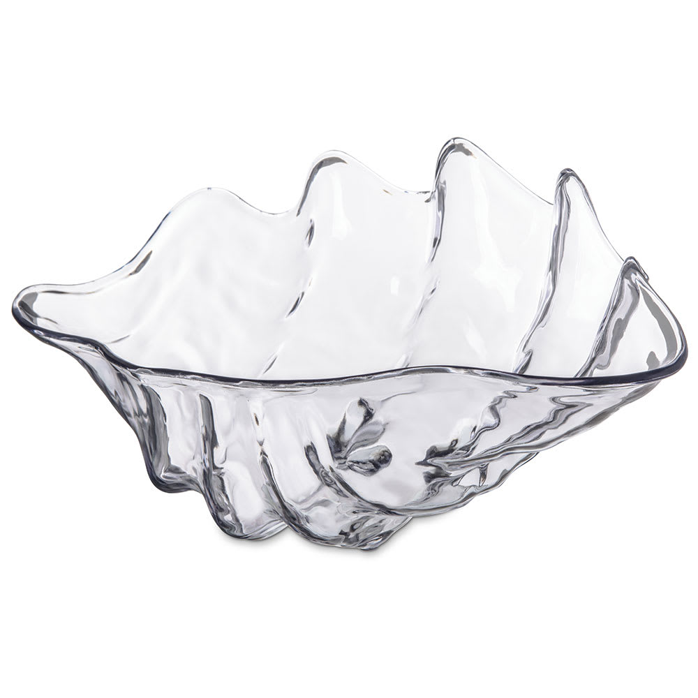 "Carlisle 034407 5 qt Buffet Clam Shell - 19x12 7/8"" Clear"