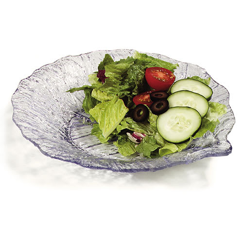 "Carlisle 034707EA 9"" Leaf Plate - Scalloped Edge,  Clear"