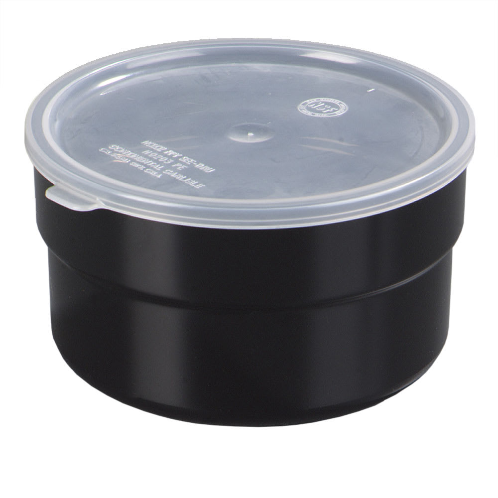 Carlisle 036503 1.5-qt Supreme Crock - Snap-On Lid, Black