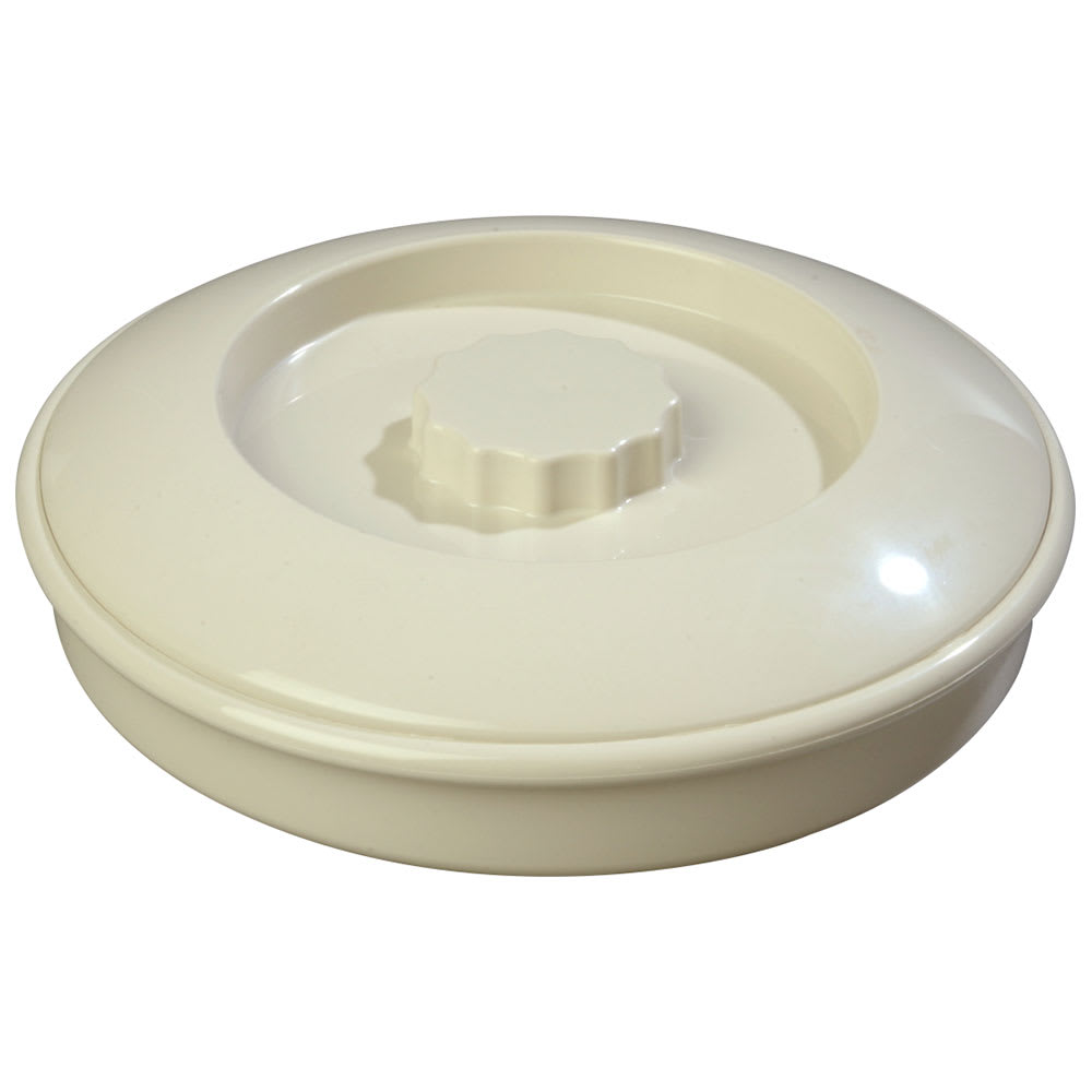 "Carlisle 047542 7 1/2"" Tortilla Server with Lid - Bone"