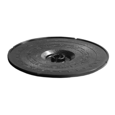 "Carlisle 070303 8"" Tortilla Server Lid - Lift-Off Style, Black"