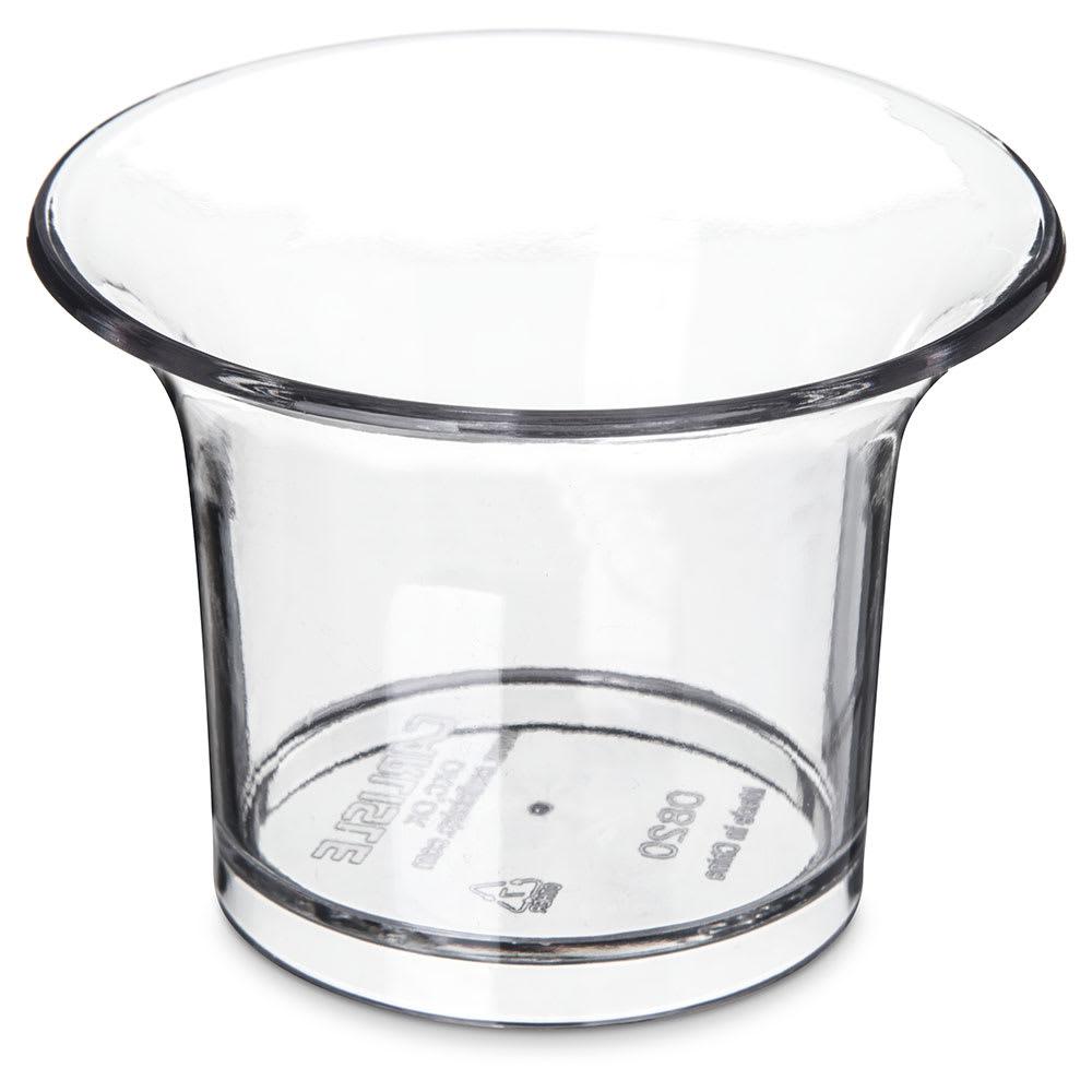 Carlisle 082007 2.75 oz Oyster Cup - Plastic, Clear