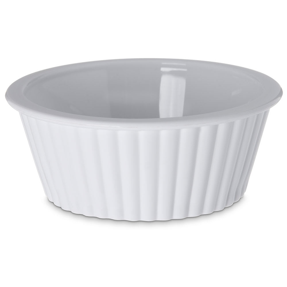 Carlisle 0844-02 2 oz Fluted Ramekin - White