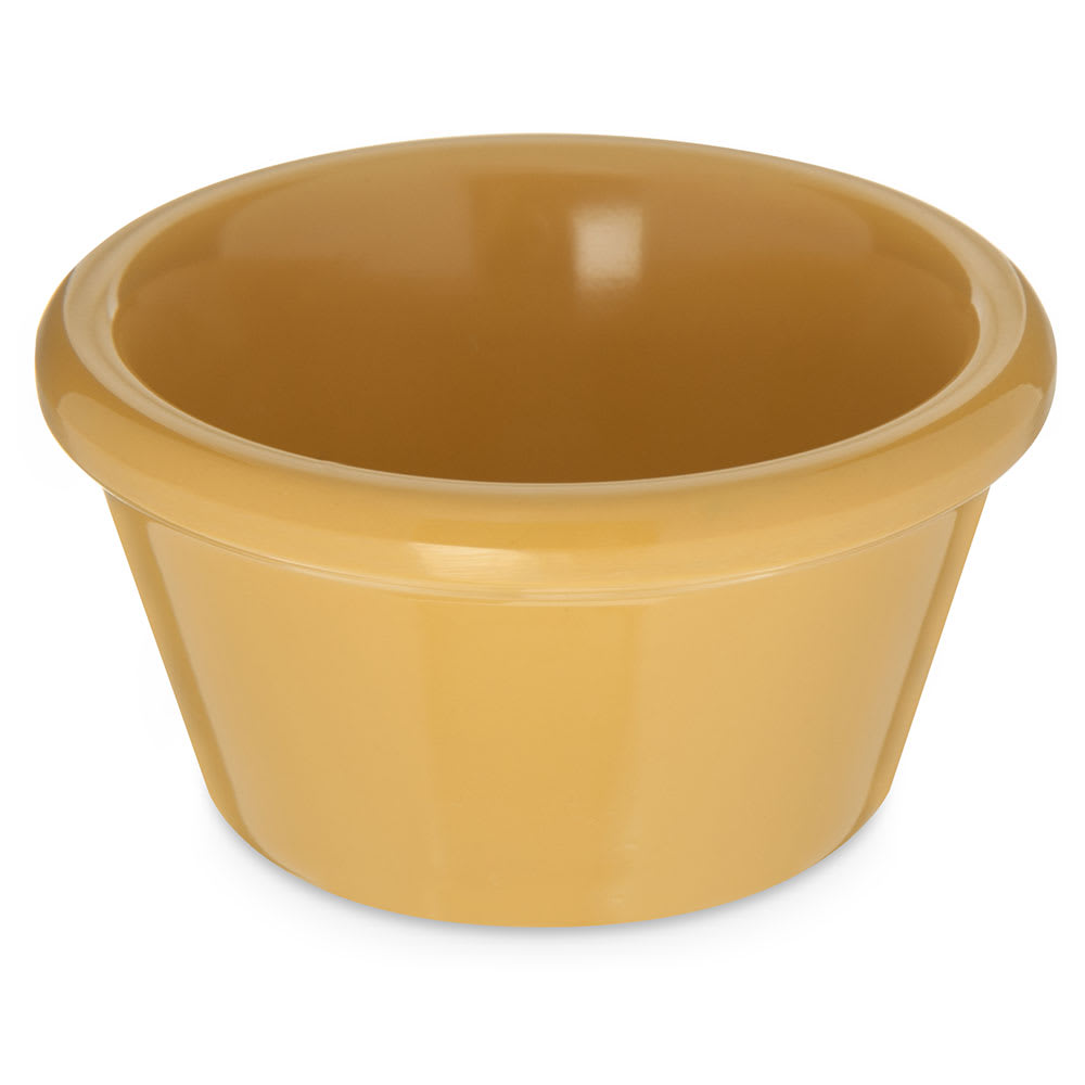 Carlisle 085222 2 oz Ramekin - Melamine, Honey Yellow