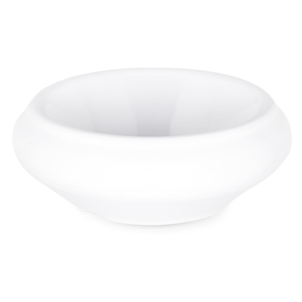 Carlisle 085502 1 oz Butter Dish - Melamine, White