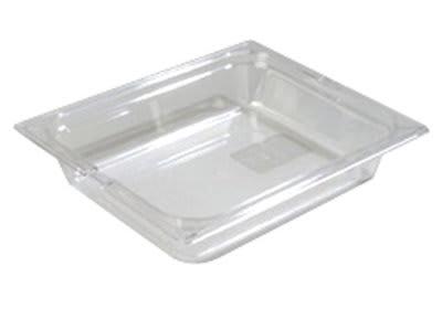 "Carlisle 1022007 Half Size Food Pan - 2-1/2""D, Clear"