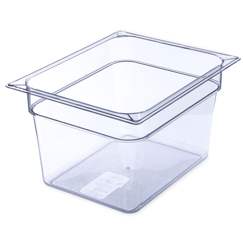 "Carlisle 10223B07 Half Size Food Pan - 8""D, Clear"