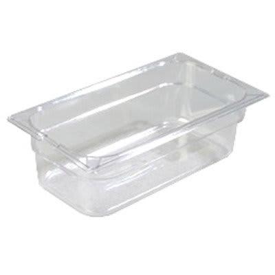 "Carlisle 1026107 1/3 Size Food Pan - 4""D, Clear"
