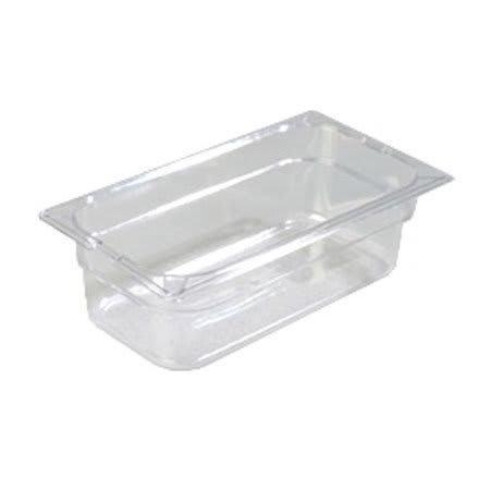 "Carlisle 10261-807 1/3 Size Food Pan - 4""D, (3/Pk) Clear"