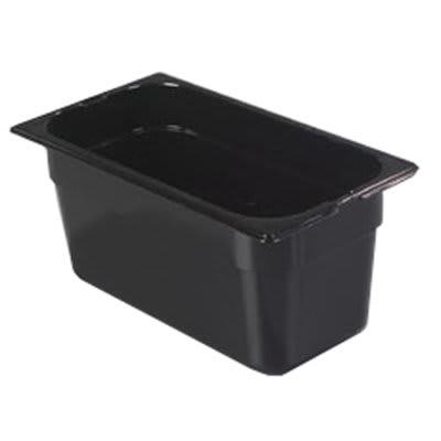 "Carlisle 1026203 1/3 Size Food Pan - 6""D, Black"
