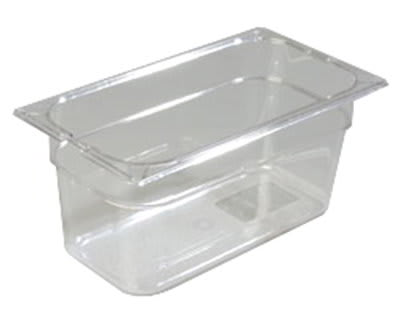 "Carlisle 10262-807 1/3 Size Food Pan - 6""D, (3/Pk) Clear"