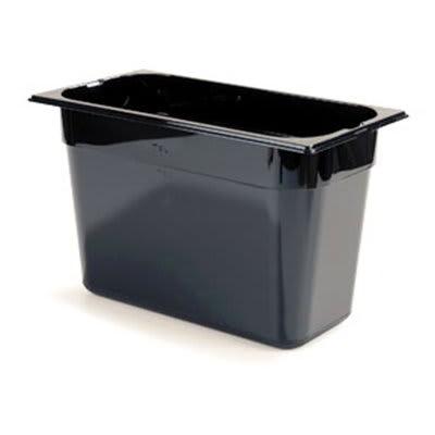 "Carlisle 1026903 1/3 Size Food Pan - 8""D, Black"