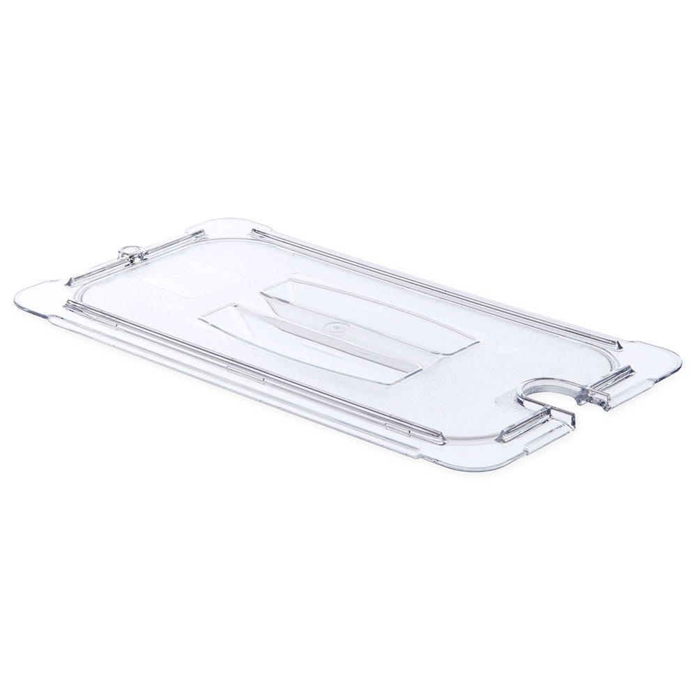 Carlisle 10271U07 Universal 1/3 Size Food Pan Notched Lid - Clear