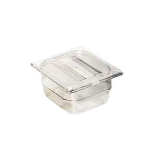 "Carlisle 1030007 1/6 Size Food Pan - 2-1/2""D, Clear"