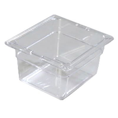 "Carlisle 10301-807 1/6 Size Food Pan - 4""D, (3/Pk) Clear"
