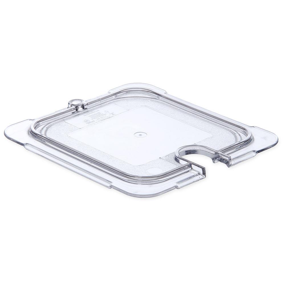 Carlisle 10317U07 Universal 1/6 Size Food Pan Lid - Flat, Notched, Clear