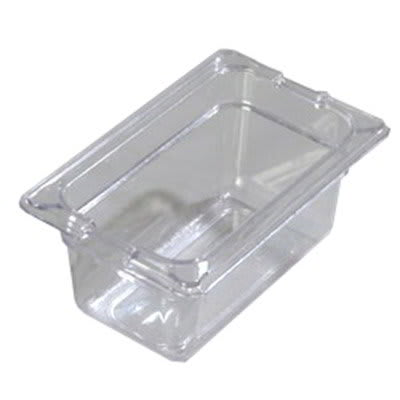 "Carlisle 10321-807 1/9 Size Food Pan - 4""D, (3/Pk) Clear"