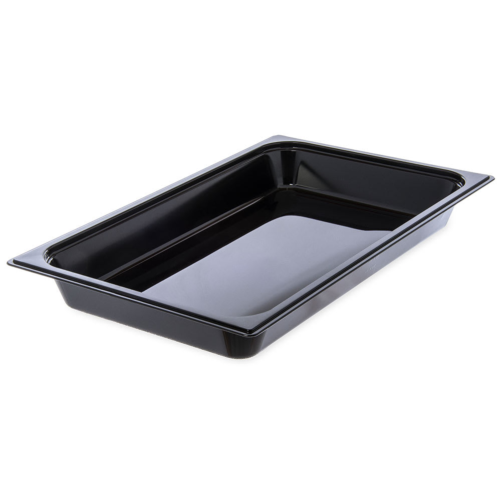 "Carlisle 10400B03 StorPlus High Heat Food Pan - Full Size, 2.5""D, Black"