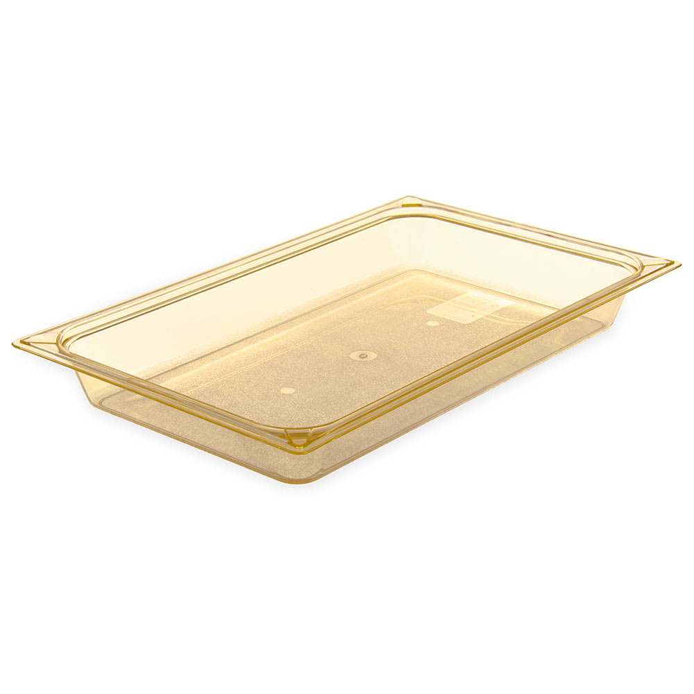 "Carlisle 10400B13 StorPlus High Heat Food Pan - Full Size, 2.5""D, Amber"