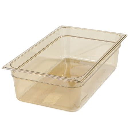 "Carlisle 10402B13 High Heat Full Size Food Pan - 6""D, Amber"