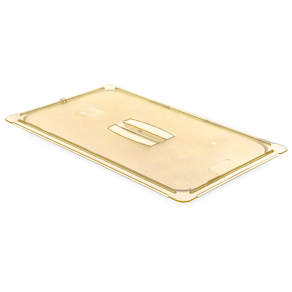Carlisle 10410U13 Universal Full Size High Heat Food Pan Solid Lid - Amber